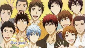 The members of the Seirin High School Basketball team.