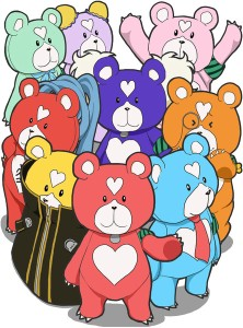 The mental models as they appeared in the Kiri Kuma's shorts.