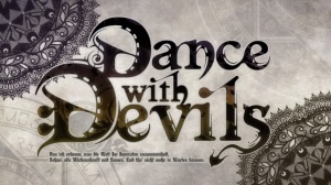 The title logo for Dance with Devils.