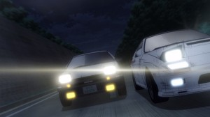 The race between Takumi and Ryosuke.